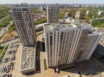 Вид на жилые дома сверху